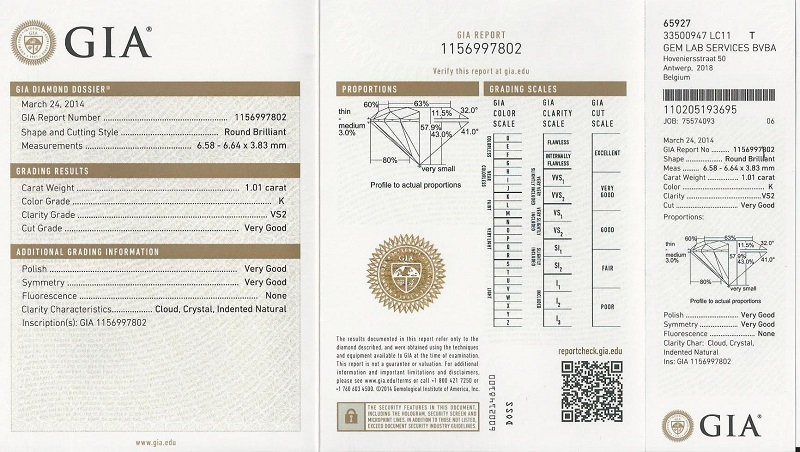 certificati diamanti caratteristiche